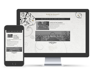 Paperless Wedding Website Baroque Template